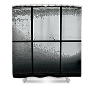 Snow Covers The Streets Shower Curtain