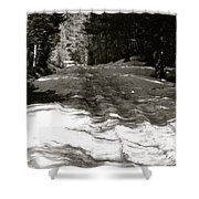Snow In April Shower Curtain