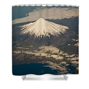 Snowcovered Volcano Andes Chile Shower Curtain by Colin Monteath