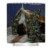 Snowy Christmas Eve Shower Curtain