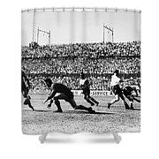 Soccer Match, 1930s Shower Curtain