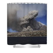 Soufriere Hills Eruption, Montserrat Shower Curtain