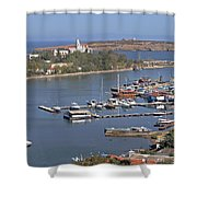 Sozopol Harbour Shower Curtain