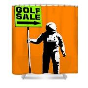 Space Golf Sale Shower Curtain