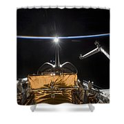 Space Shuttle Atlantis Payload Bay Shower Curtain
