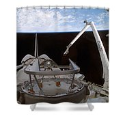 Space Shuttle Discoverys Payload Bay Shower Curtain