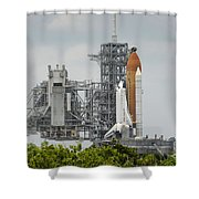 Space Shuttle Endeavour On The Launch Shower Curtain
