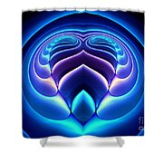 Spiral-3 Shower Curtain by Klara Acel