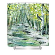 Spring Shower Curtain by Shana Rowe Jackson
