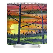 Spring Sunrise Shower Curtain