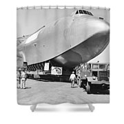 Spruce Goose Hull On The Move Shower Curtain