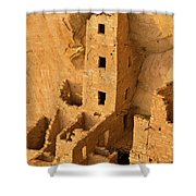 Square Tower Evening Shower Curtain
