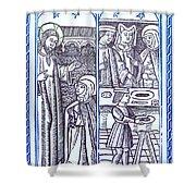 St. Catherine, Italian Philosopher Shower Curtain