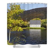 St. Finbarres Oratory On Shore Shower Curtain by Ken Welsh