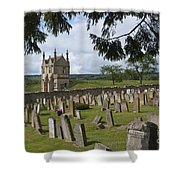 St James Church Graveyard Shower Curtain