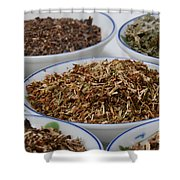St Johns Wort Dried Herb Shower Curtain by Photo Researchers, Inc.