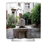 St. Paul De Vence Fountain Shower Curtain