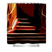 Stairs At Palace Avenue Shower Curtain
