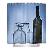 Still Life Of Bottles  Shower Curtain