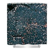Stoneface At Hossa With Stone Age Paintings Shower Curtain