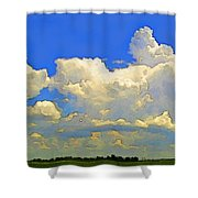 Storm Clouds Rising  Art Shower Curtain