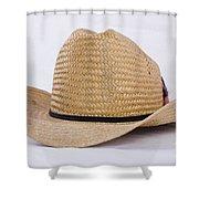 Straw Weave Cowboy Hat Shower Curtain