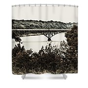 Strawberry Mansion Bridge From Laurel Hill Shower Curtain