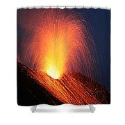 Strombolian Eruption Of Stromboli Shower Curtain