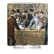 Suffrage: Woodhull Sisters Shower Curtain
