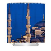Sultanahmet Or Blue Mosque At Dusk Shower Curtain