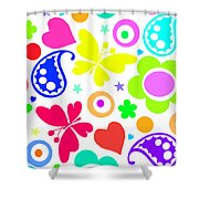 Summer Fun Shower Curtain by Louisa Knight