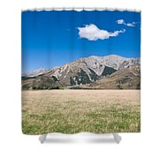 Summer Landscape Blue Sky  Shower Curtain