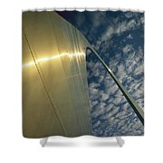 Sunlight Beams On The Gateway Arch Shower Curtain