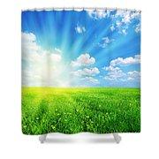 Sunny Spring Landscape Shower Curtain