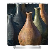 Sunrise And Pottery Shower Curtain