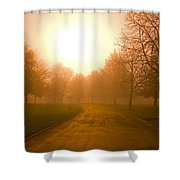Sunrise Over Country Road, Oregon Shower Curtain