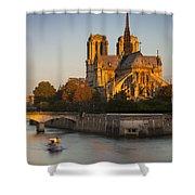 Sunrise Over Notre Dame Shower Curtain