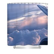 Sunrise Over The Wing Shower Curtain