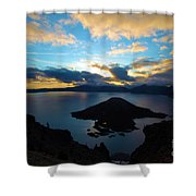Sunrise Over The Wizard Shower Curtain