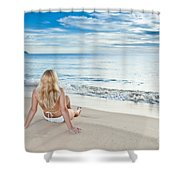 Sunrise Woman Shower Curtain