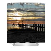 Sunset Cape Charles Virginia Shower Curtain