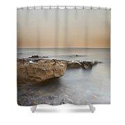Sunset On The Mediterranean Shower Curtain by Joana Kruse