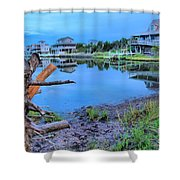 Sunset On The Sound Shower Curtain