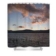 Sunset Over Lake Tahoe Shower Curtain