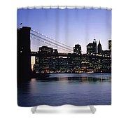 Sunset Over Lower Manhattan Shower Curtain