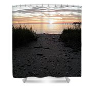 Sunset Through The Grass Cape Charles Virginia Shower Curtain