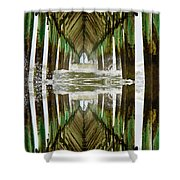 Surf City Pier Reflection Shower Curtain