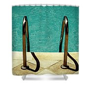 Swimming Pool Shower Curtain
