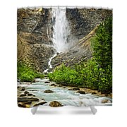 Takakkaw Falls Waterfall In Yoho National Park Canada Shower Curtain