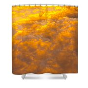 Tangerine Sky Shower Curtain
